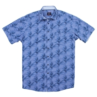 Casa Moda 26200 Palm Print SS Shirt -shop-by-brands-Beggs Big Mens Clothing - Big and Tall Men's fashionable clothing and shoes