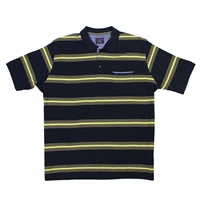 Casa Moda 56500 Stripe Cotton Polo-big-mens-polo-shirts-Beggs Big Mens Clothing - Big and Tall Men's fashionable clothing and shoes