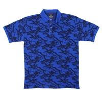 Casa Moda 84600 Cotton Abstract Polo-big-mens-polo-shirts-Beggs Big Mens Clothing - Big and Tall Men's fashionable clothing and shoes