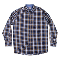Casa Moda 42100 Check Cotton LS Shirt-shop-by-brands-Beggs Big Mens Clothing - Big and Tall Men's fashionable clothing and shoes