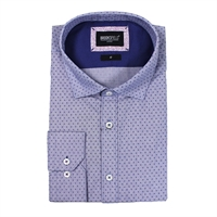 Brooksfield 1320 Cotton Luxe Small Print-big-mens-business-shirts-Beggs Big Mens Clothing - Big and Tall Men's fashionable clothing and shoes