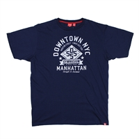 D555 Downtown NYC Cotton Print Tee-shop-by-brands-Beggs Big Mens Clothing - Big and Tall Men's fashionable clothing and shoes