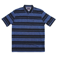 Casa Moda 2630400 Cotton Poly Horizontal Stripe Polo-big-mens-polo-shirts-Beggs Big Mens Clothing - Big and Tall Men's fashionable clothing and shoes