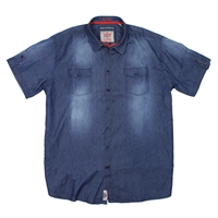 D555 Destiny Cotton Denim Image Shirt-shop-by-brands-Beggs Big Mens Clothing - Big and Tall Men's fashionable clothing and shoes