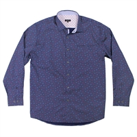 Berlin 280 Paisley Dot Cotton LS Shirt-shop-by-brands-Beggs Big Mens Clothing - Big and Tall Men's fashionable clothing and shoes