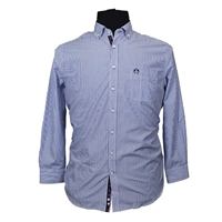 Campione 7818001S Cotton Mix Bengal Stripe Button Down Collar LS Shirt-shop-by-brands-Beggs Big Mens Clothing - Big and Tall Men's fashionable clothing and shoes