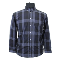 North56 73130 Cotton Windowpane Fashion Check Shirt-shop-by-brands-Beggs Big Mens Clothing - Big and Tall Men's fashionable clothing and shoes
