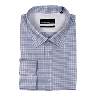 Rembrandt SF3470 Ink Check Regular Fit Shirt-rembrandt-Beggs Big Mens Clothing - Big and Tall Men's fashionable clothing and shoes