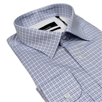 Rembrandt SF3470 Ink Check Regular Fit Shirt-shop-by-brands-Beggs Big Mens Clothing - Big and Tall Men's fashionable clothing and shoes