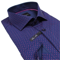 Venti CA812402  XTall Small Print Slim Fit Shirt-shop-by-brands-Beggs Big Mens Clothing - Big and Tall Men's fashionable clothing and shoes