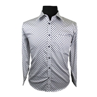 Berlin L259 Cotton Print LS Shirt-shop-by-brands-Beggs Big Mens Clothing - Big and Tall Men's fashionable clothing and shoes