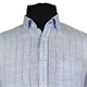Casa Moda 9829085 Linen Button Down Collar Fashion Check Shirt