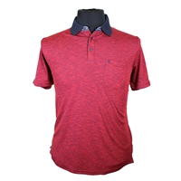 Casa Moda 9828941 Cotton Mix Marle Pattern Fashion Polo-shop-by-brands-Beggs Big Mens Clothing - Big and Tall Men's fashionable clothing and shoes