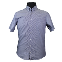 Casa Moda 9830788 Pure Cotton Pin Stripe Buttondown Collar Fashion Shirt-shop-by-brands-Beggs Big Mens Clothing - Big and Tall Men's fashionable clothing and shoes