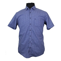 Casa Moda 9830747 Pure Cotton Neat Check Fashion Shirt-shop-by-brands-Beggs Big Mens Clothing - Big and Tall Men's fashionable clothing and shoes