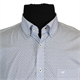 Casa Moda 9829424 Pure Cotton Mini Print Buttondown Collar Fashion Shirt