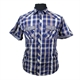 Kam 6148 Cotton Rich Retro Check with Twin Pocket Shirt