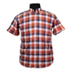 North 56 81163 Pure Cotton Window Pane Check Fashion Shirt