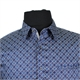 Berlin S354 Pure Cotton Small Multi Pattern Print Shirt