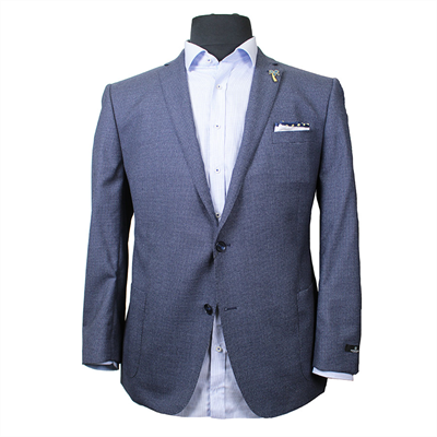 Savile Row DJ1 Pure Wool Houndstooth Weave Sports Coat