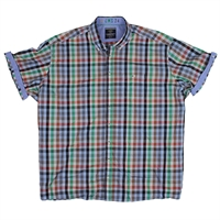 Casa Moda 22271 Cotton Casual Fit Small Pane Check Shirt-shop-by-brands-Beggs Big Mens Clothing - Big and Tall Men's fashionable clothing and shoes