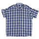 Casa Moda 219141 Cotton Linen Multi Check with Contrast Shirt