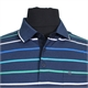 Casa Moda 310600 Cotton Mix Horizontal Stripe Polo with Pocket