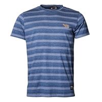 Replika 91365 Cotton Mix Horizontal Stripe Replika Logo Fashion Tee-shop-by-brands-Beggs Big Mens Clothing - Big and Tall Men's fashionable clothing and shoes