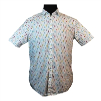 Casa Moda 32247 Pure Cotton Surf Board Print Fashion Shirt-shop-by-brands-Beggs Big Mens Clothing - Big and Tall Men's fashionable clothing and shoes