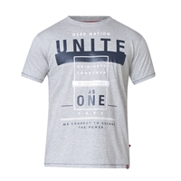 D555 60155 Cotton Mix Unite Nation Print Fashion Tee-shop-by-brands-Beggs Big Mens Clothing - Big and Tall Men's fashionable clothing and shoes