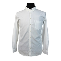 Ben Sherman BS485781 Pure Cotton Oxford Buttondown Collar Shirt-shop-by-brands-Beggs Big Mens Clothing - Big and Tall Men's fashionable clothing and shoes