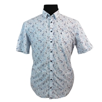 Casa Moda Cotton Tropical Sailing Pattern Standard Collar Shirt-shop-by-brands-Beggs Big Mens Clothing - Big and Tall Men's fashionable clothing and shoes