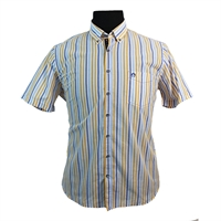 Campione Pure Cotton Multi Colour Stripe Fashion Shirt-shop-by-brands-Beggs Big Mens Clothing - Big and Tall Men's fashionable clothing and shoes