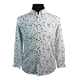 Campione Linen Cotton Mix Circles Pattern Fashion Shirt