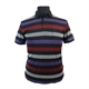Kitaro Cotton Mix Wide Horizontal Stripe Pocket Polo