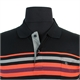 Kitaro Fine Mercerized Cotton Multi Horizontal Stripe Pocket Polo