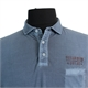 Kitaro Pure Cotton Washed Look Ocean Club Logo Pocket Polo