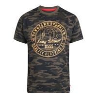 D555 Camo NYC Print Cotton Tee-shop-by-brands-Beggs Big Mens Clothing - Big and Tall Men's fashionable clothing and shoes