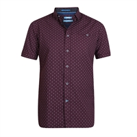 D555 Small Triangle Pattern Short Sleeve Shirt-shop-by-brands-Beggs Big Mens Clothing - Big and Tall Men's fashionable clothing and shoes