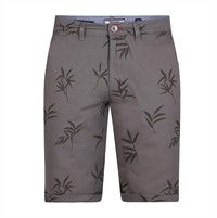 D555 Leaf Print Dress Short Khaki-shop-by-brands-Beggs Big Mens Clothing - Big and Tall Men's fashionable clothing and shoes