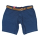 Kam Stretch Cotton Dobby Pattern Classic Short with Free Belt