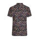 D555 Floral Black Cotton Short Sleeve Shirt