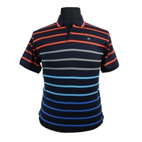 Kitaro Fine Pure Cotton Vivid Horizontal Stripe Fashion Polo-shop-by-brands-Beggs Big Mens Clothing - Big and Tall Men's fashionable clothing and shoes