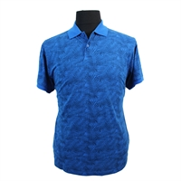 North56 Pure Cotton Leaf Pattern Plain Collar Fashion Polo-shop-by-brands-Beggs Big Mens Clothing - Big and Tall Men's fashionable clothing and shoes