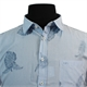 North56 Pure Cotton Stripe with Leaf Pattern Fashion Shirt