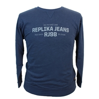 Replika Cotton Logo Slup Yarn Sweatshirt-shop-by-brands-Beggs Big Mens Clothing - Big and Tall Men's fashionable clothing and shoes