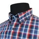 Casa Moda Blue Red Cotton Check LS Shirt
