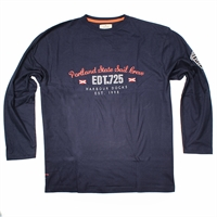 Greyes Portland Crew Neck LS Tee-big-mens-clearance-Beggs Big Mens Clothing - Big and Tall Men's fashionable clothing and shoes