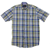 Casa Moda 35600 Check SS Shirt-shop-by-brands-Beggs Big Mens Clothing - Big and Tall Men's fashionable clothing and shoes